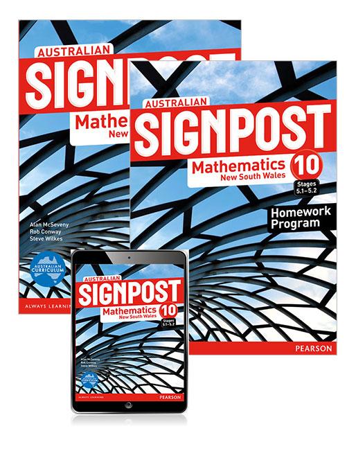 Australian Signpost Mathematics New South Wales 10 (5.1-5.2) Student Book, eBook and Homework Program