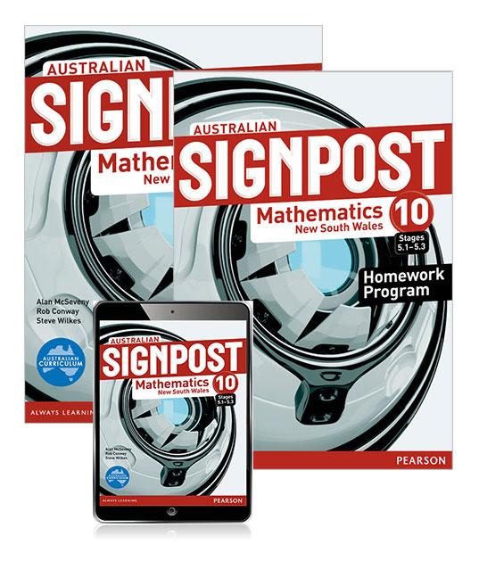 Australian Signpost Mathematics New South Wales 10 (5.1-5.3) Student Book, eBook and Homework Program