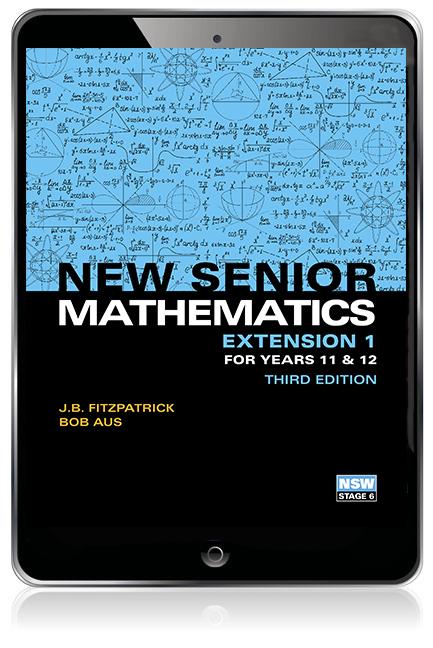 New Senior Mathematics Extension 1 Years 11 & 12 eBook - Image