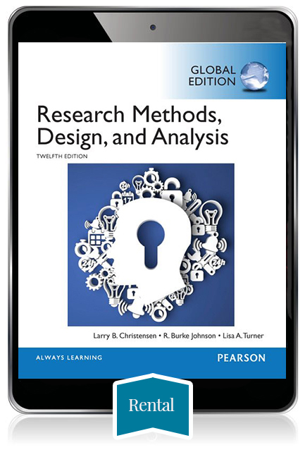 Research Methods, Design and Analysis, Global Edition eBook - 180 day rental