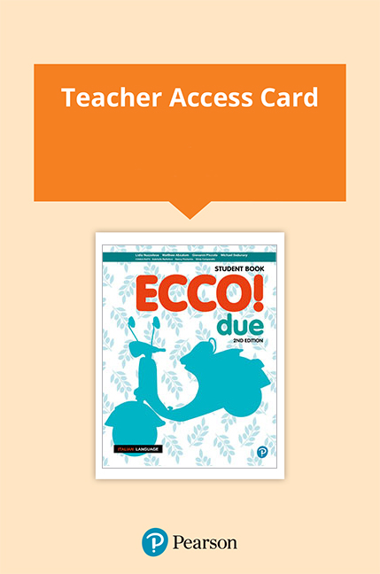 Ecco! due Teacher eBook and Audio Download (Access Card)