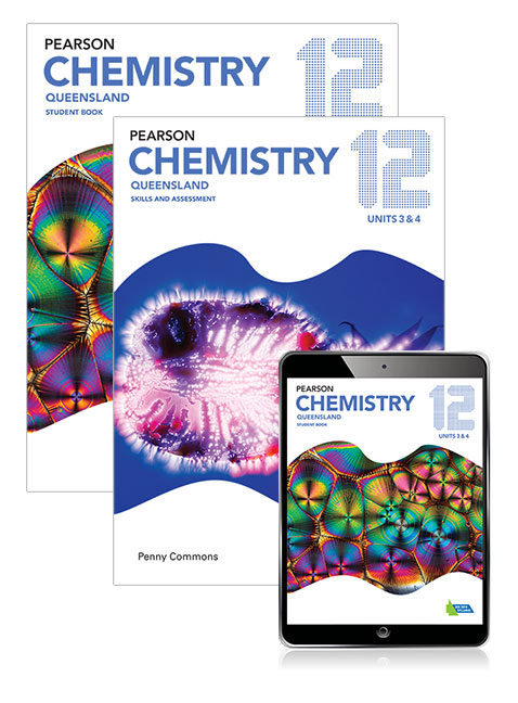 Pearson Chemistry Queensland 12 Student Book, eBook and Skills & Assessment  Book