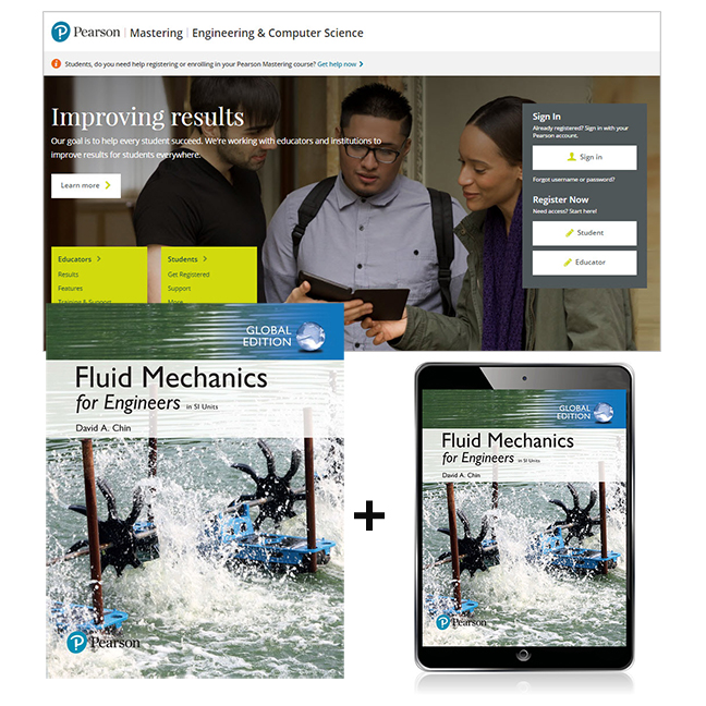 Fluid Mechanics for Engineers in SI Units, Global Edition + Mastering Engineering with eText