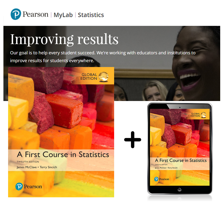 A First Course in Statistics, Global Edition + MyLab Statistics with eText, 12th Edition