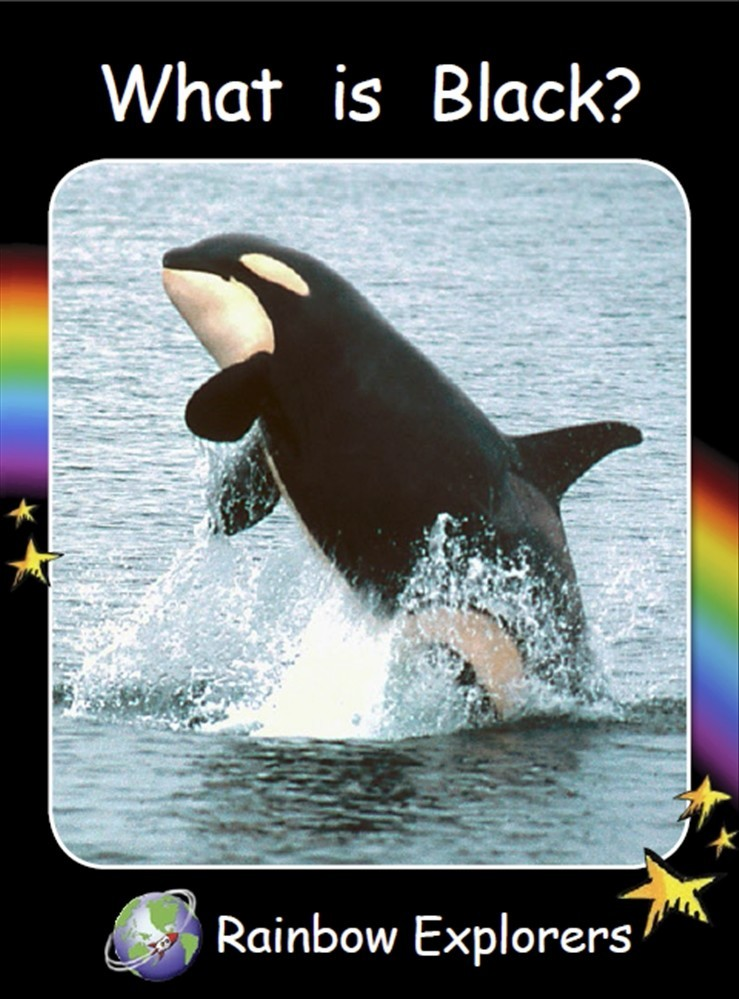 Red Rocket Readers: Rainbow Explorers: What is Black? (Reading Level 1/F&P Level A) - Image