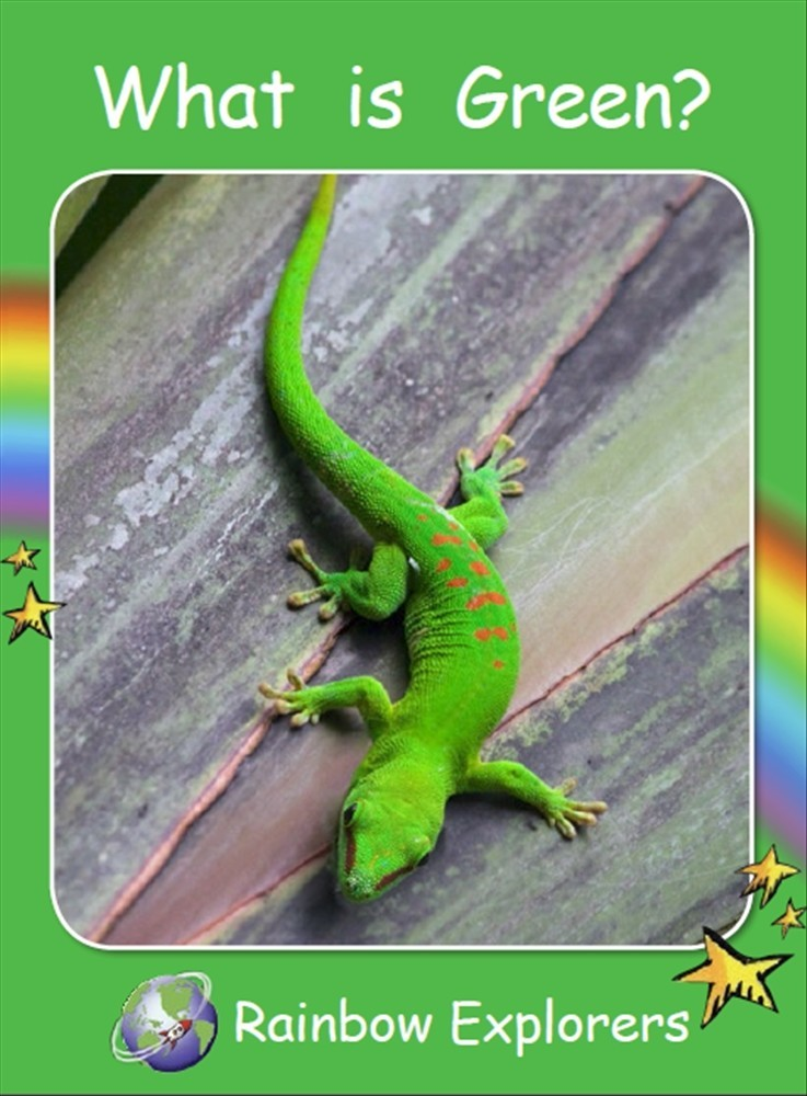 Red Rocket Readers: Rainbow Explorers: What is Green? (Reading Level 2/F&P Level B) - Image