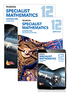 Pearson Specialist Mathematics Queensland 12 Student Book, eBook and Exam Preparation Workbook