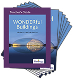 Mathology Little Books - Geometry: WONDERful Buildings (6 Pack with Teacher's Guide)