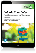 Words Their Way: Word Sorts for Syllables and Affixes Spellers, Global Edition eBook