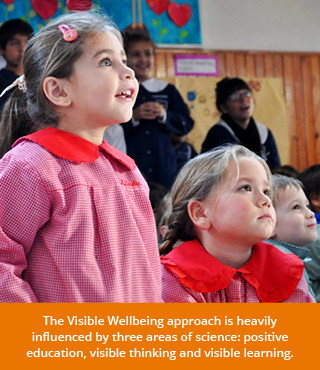 Visible wellbeing approach is influenced by positive education, visible thinking and visible learning