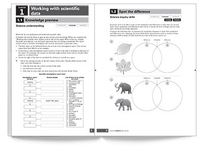 sample spread of Pearson Science 8 Activity Book