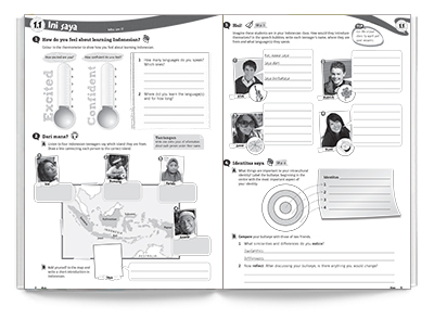Sample spread from Saling Silang 1 Activity Book