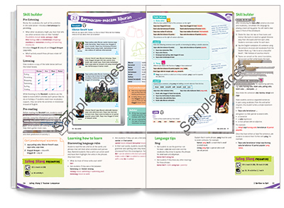 Sample spread from Saling Silang 1 Teacher Companion