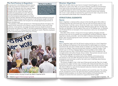 Sample spread from Comparing Guide: Malala and Made in Dagenham