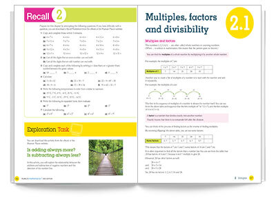 Sample spread from Pearson Mathematics 7 Student Book