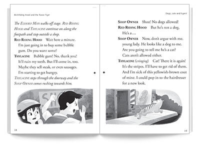 Sample spread from Red Riding Hood and the Tassie Tiger