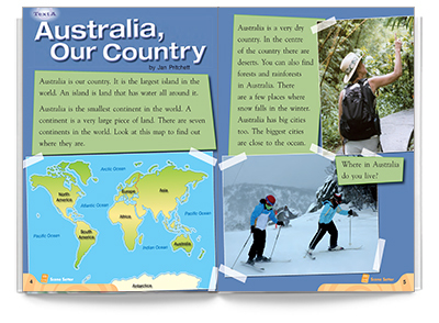 Blueprints Middle Primary A Unit 2: Australia, My Country! Guided Reading Book