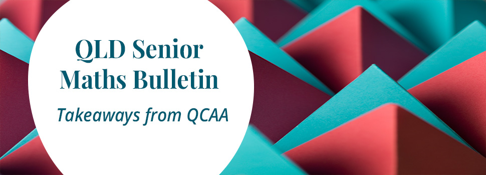 QLD Senior Maths Bulletin banner