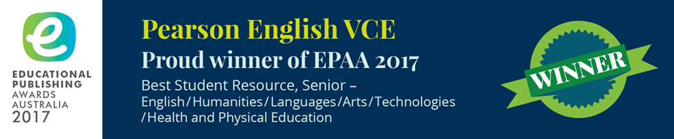 EPAA 2017- Best Student Resource, Senior English/Humanities/Languages/Arts/Technologies/Health and Physical Education