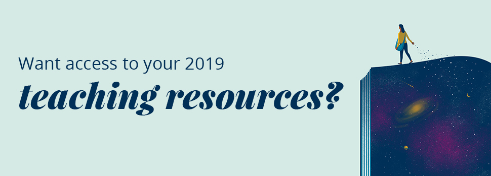 Teacher resources for 2019