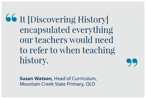 Discovering History Quote