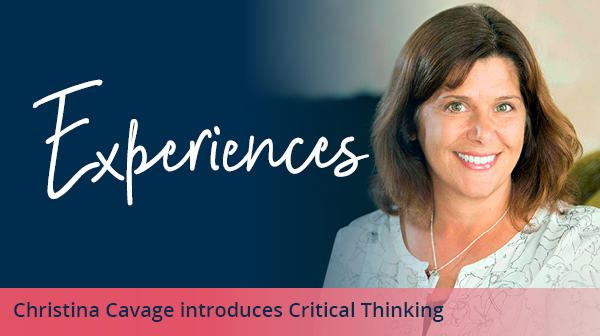 Experiences critical thinking with Christina Cavage image