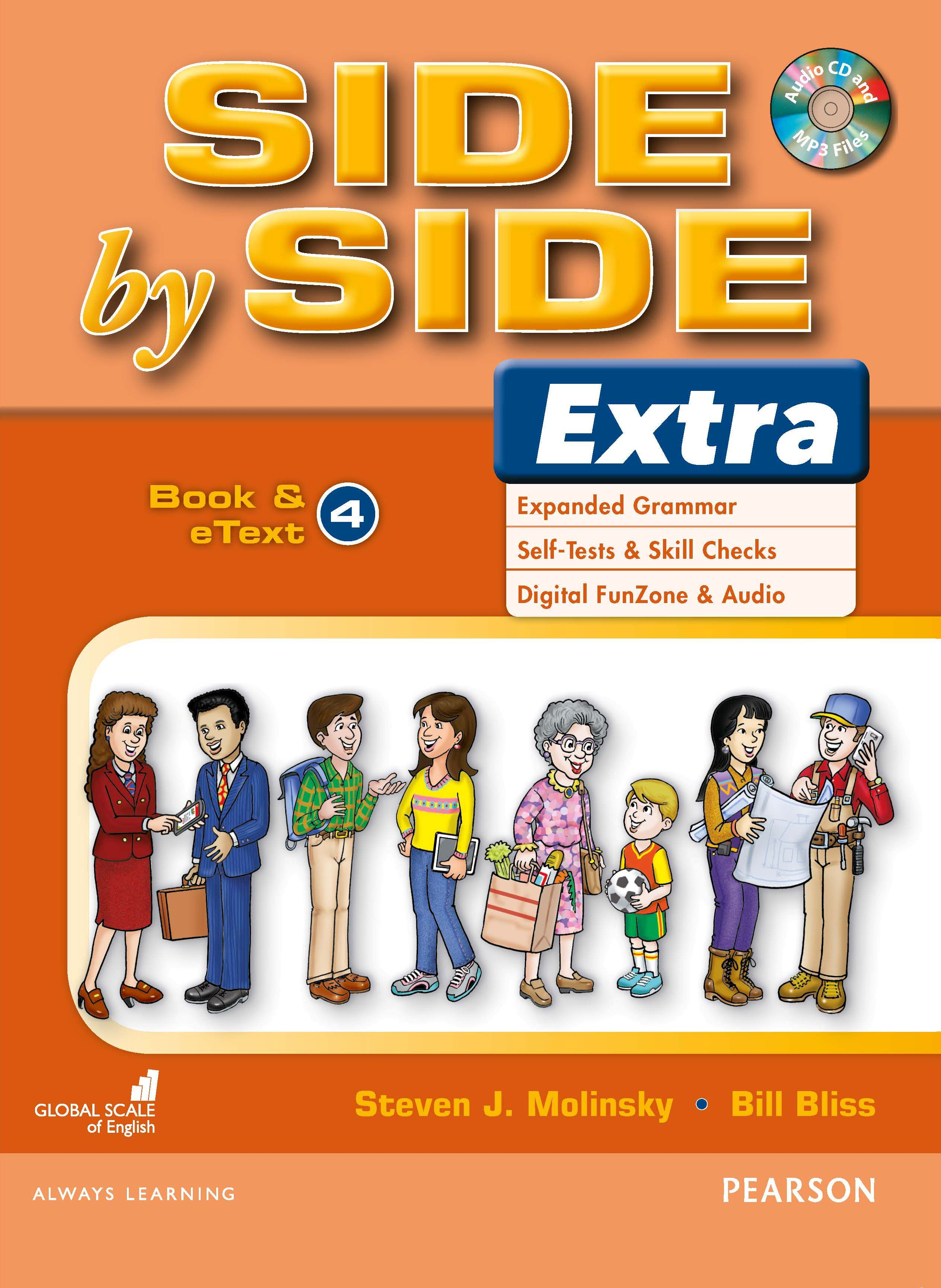 English Course Side by Side Extra Student Book cover Level 4