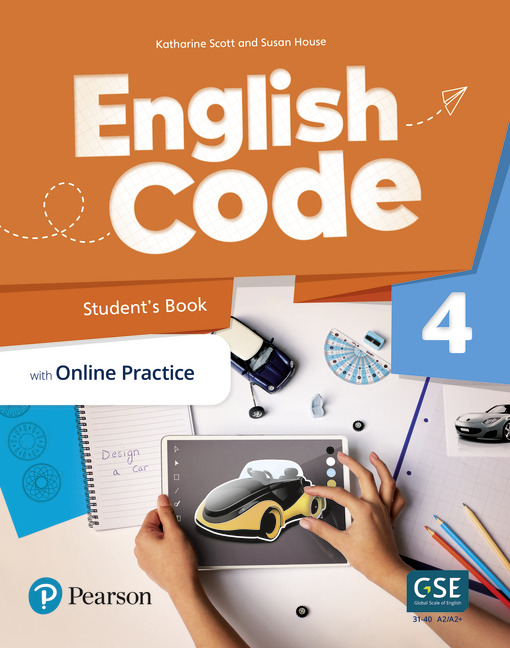 English Code Student's book cover level 4