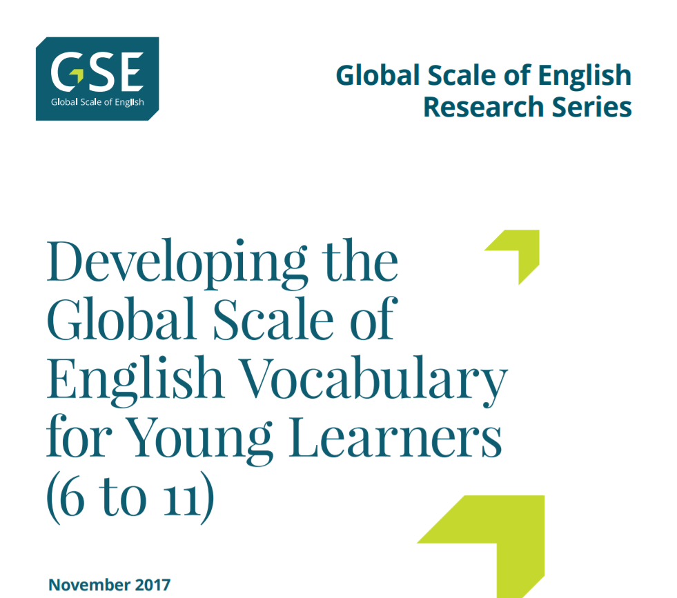 developing gse vocab young learners