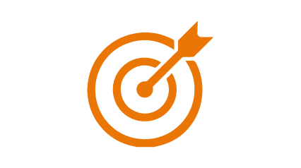 Icon of an arrow hitting a bullseye