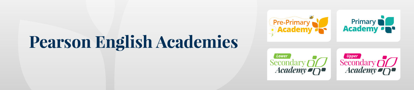 Academies banner image with 4 icons
