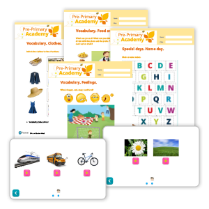 Pre-Primary Academies Vocabulary worksheets image