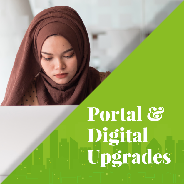 Back to School Portal and digital upgrades section