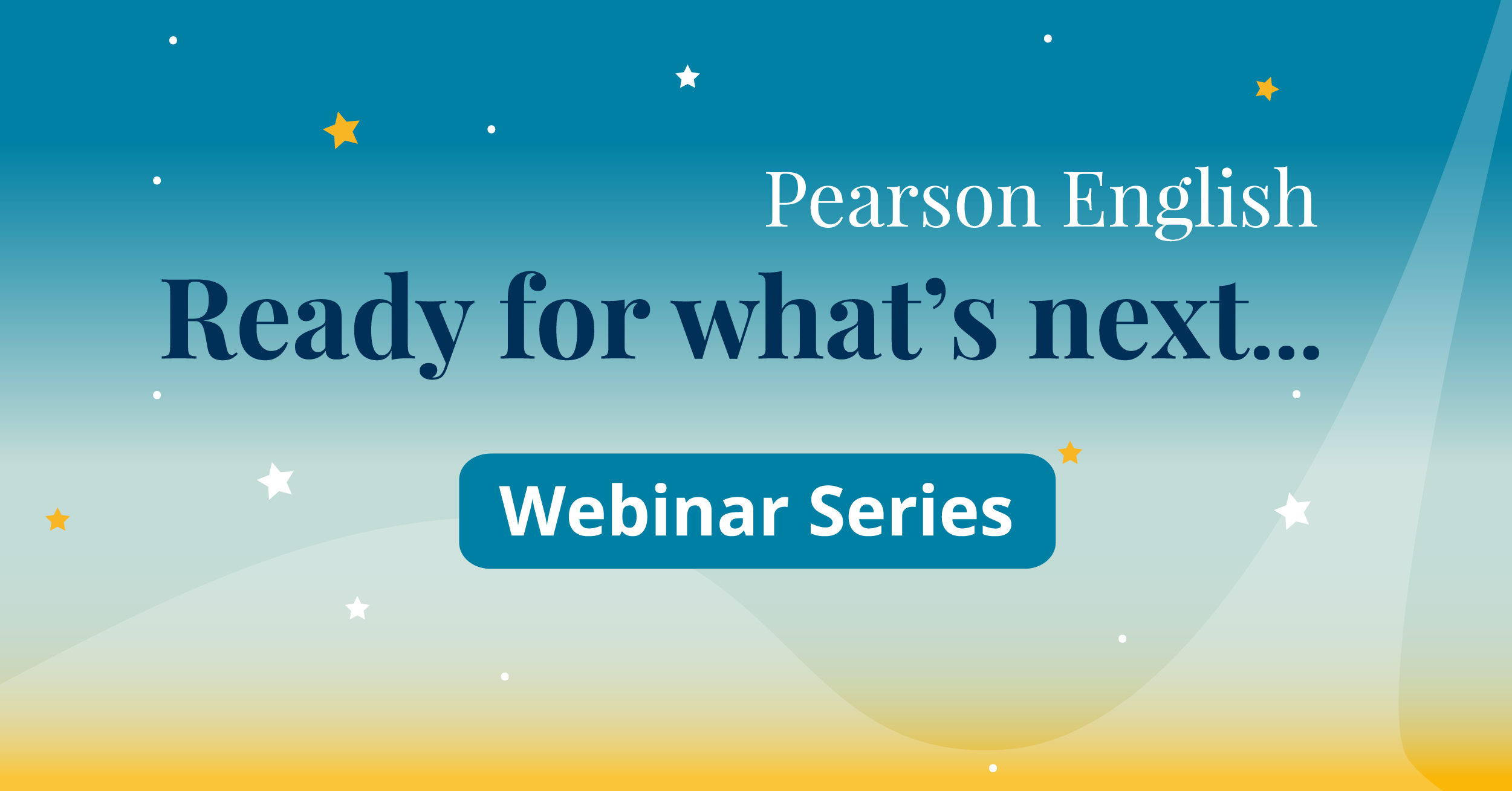 Ready for what's next webinar series banner image on starry background