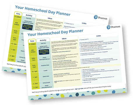 Homeschool daily planner