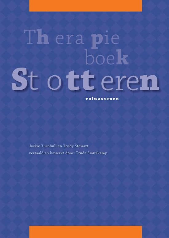 Cover Therapieboek Stotteren