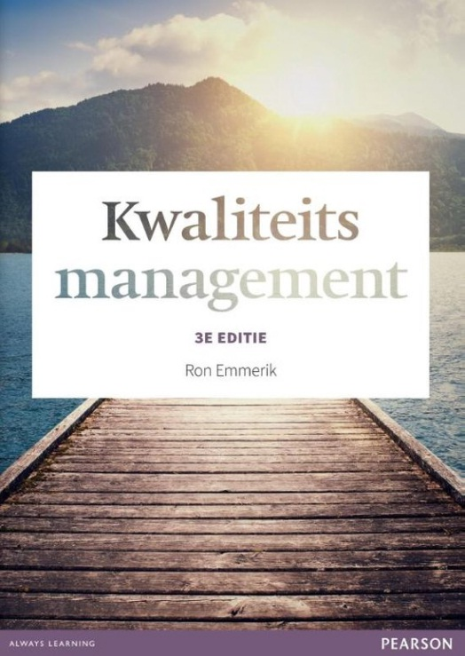 Cover Kwaliteitsmanagement, 3e editie met MyLab NL