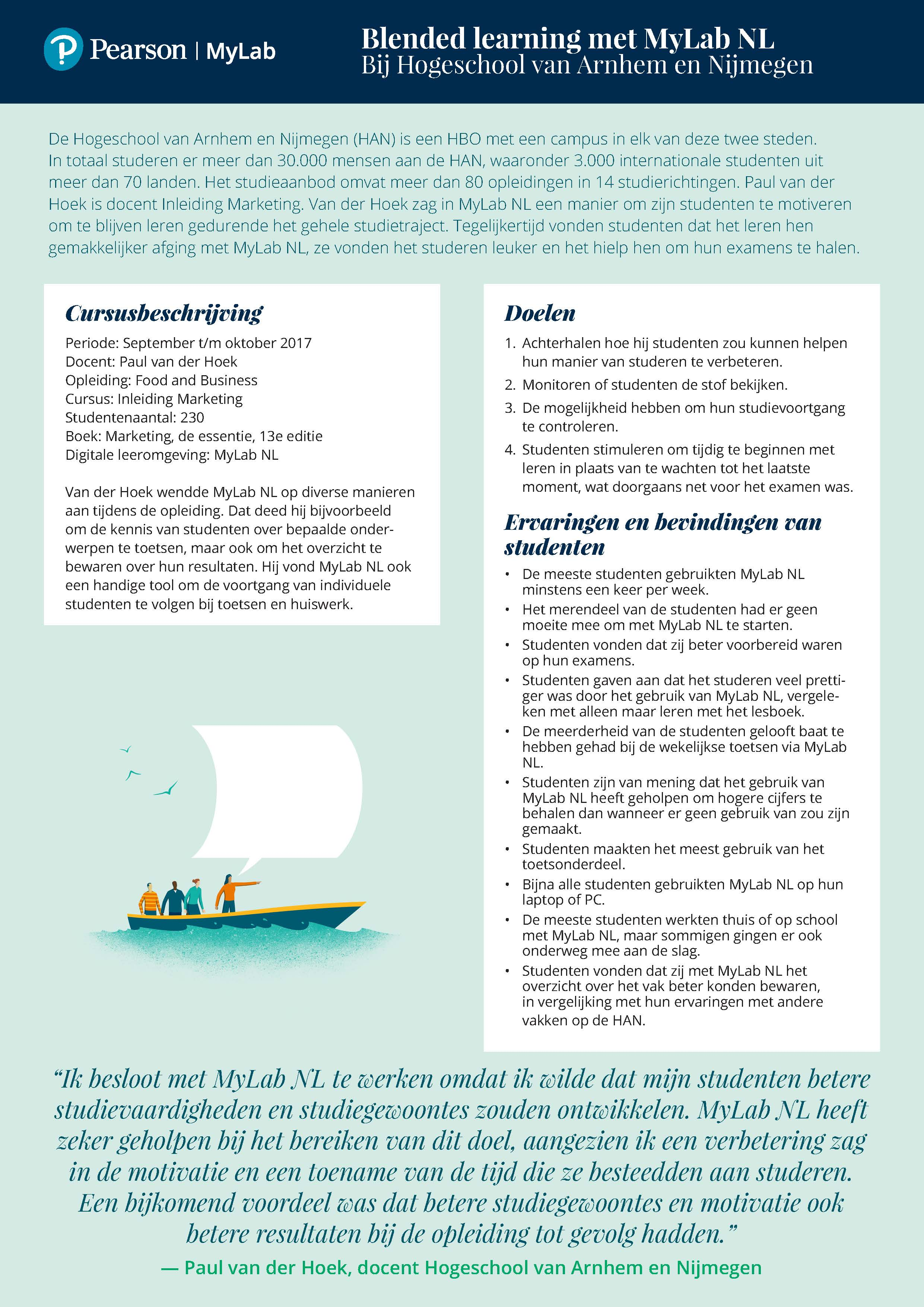 Infographic blended learning MyLab NL
