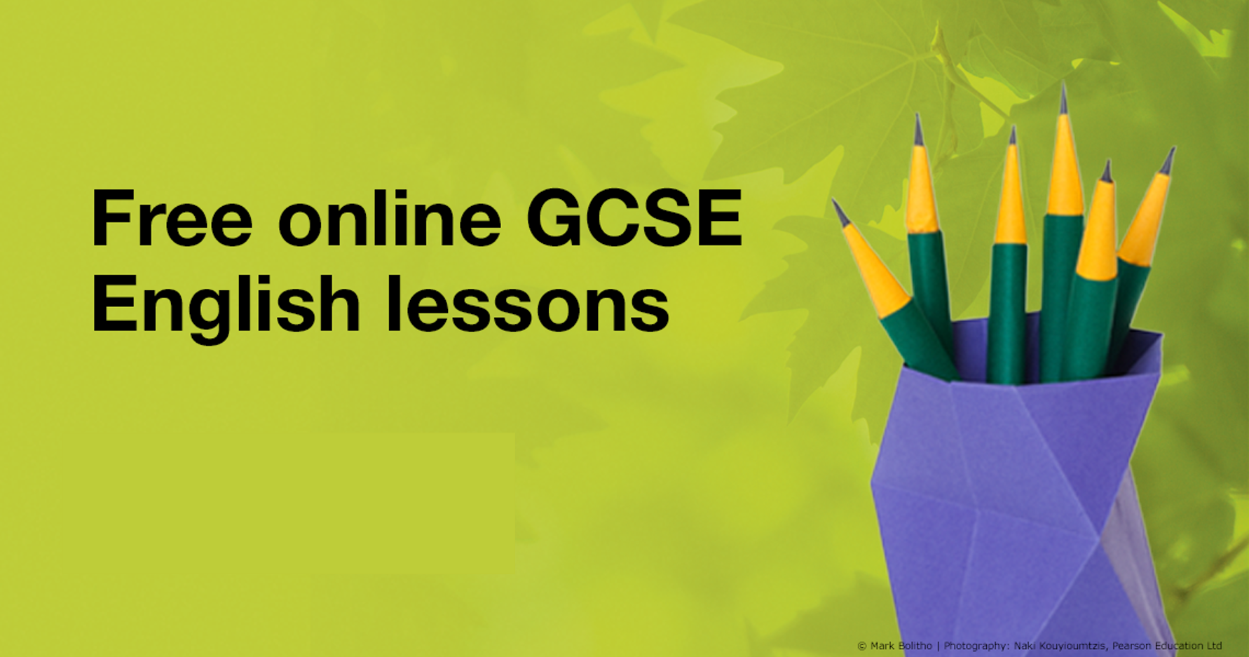 Free online GCSE English lessons