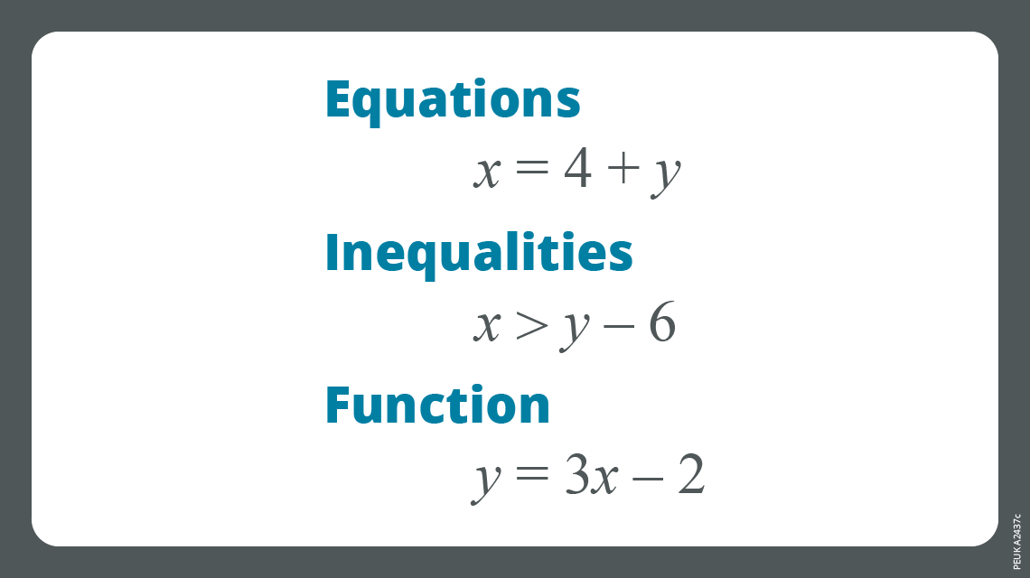 Chapter 3 - Equations and inequalities
