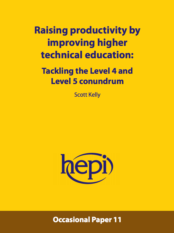 Link to the Higher-level skills report 2015 on the HEPI website