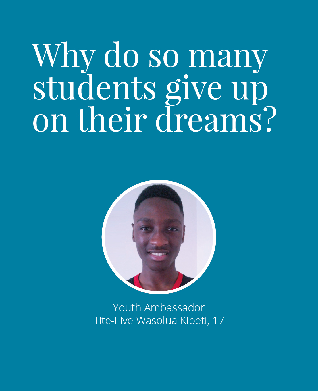 Why do so many students give up on their dreams?