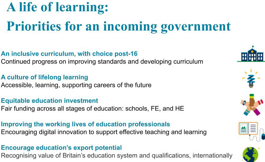 A life of learning: Priorities for an incoming government