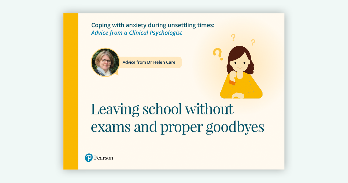 Leaving school without exams and proper goodbyes document link