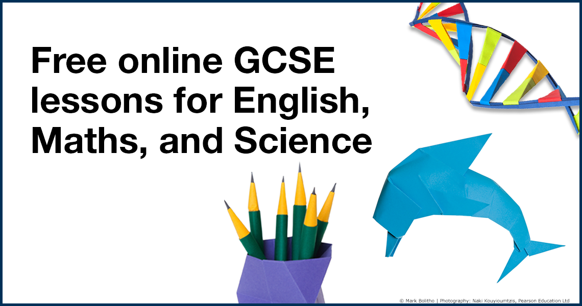 Free online GCSE lessons for English, Maths, and Science