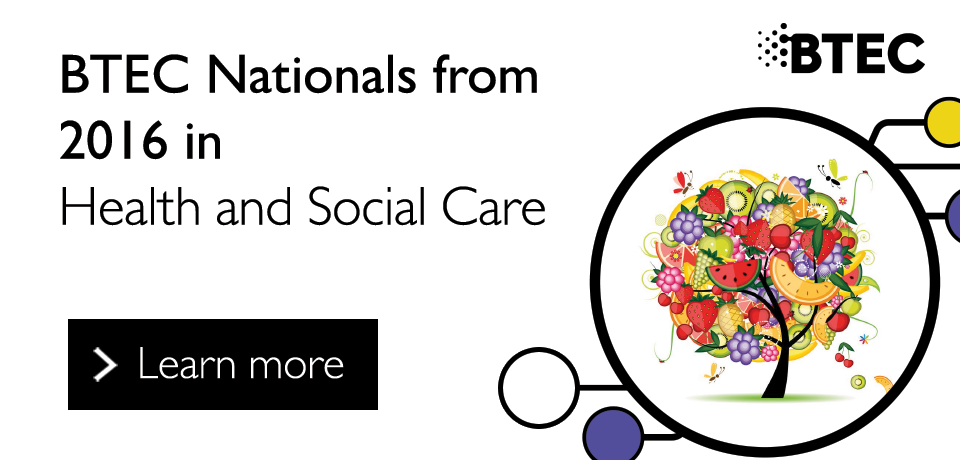 Link to our BTEC Nationals from 2016 in Health and Social Care