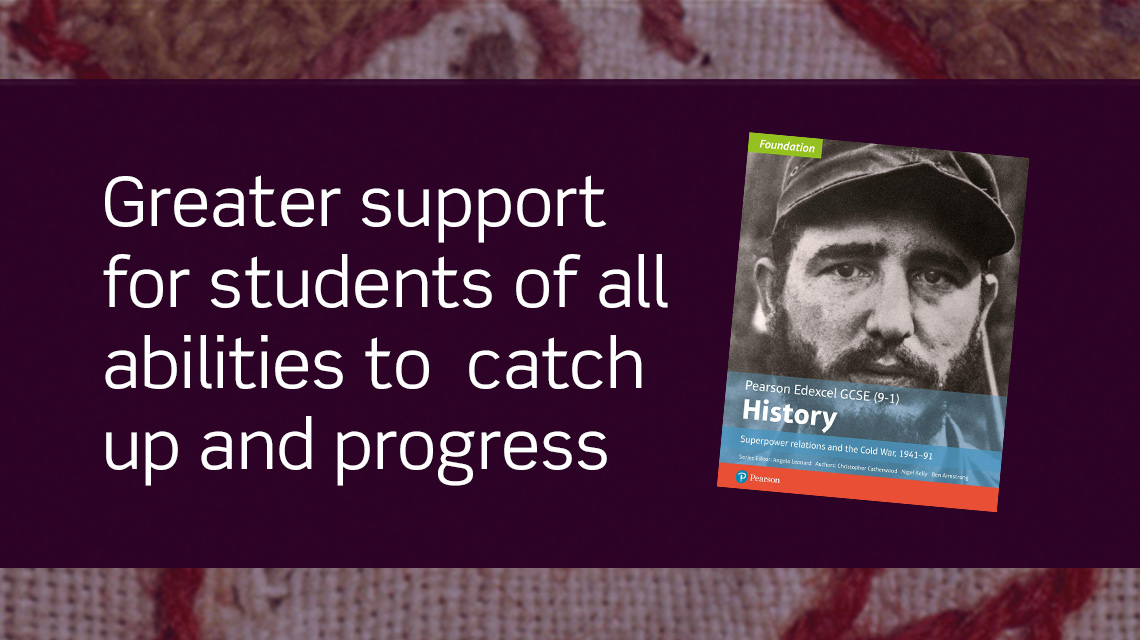 Greater support for students of all abilities to catch up and progress