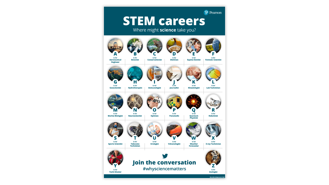 STEM careers poster cover
