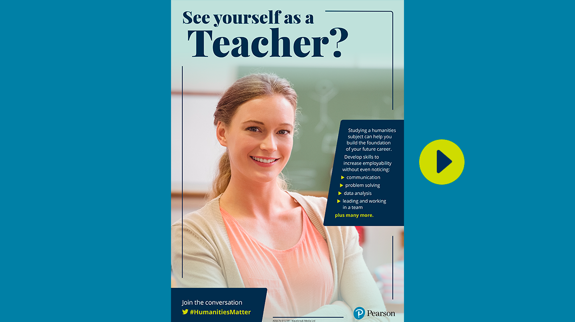 #HumanitiesMatter teacher poster - female