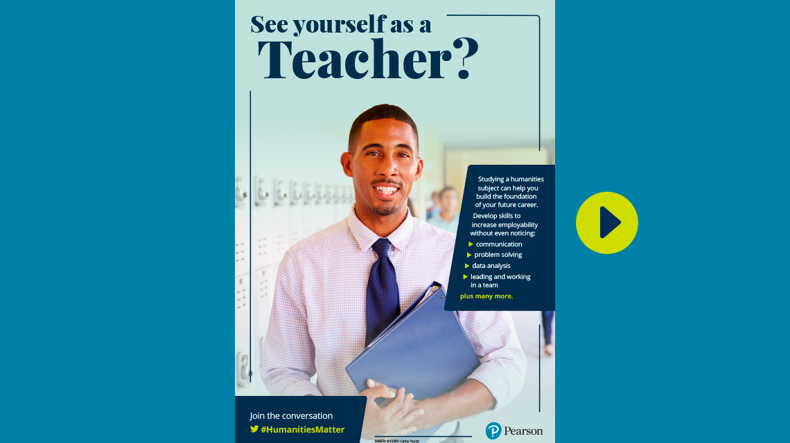 #HumanitiesMatter teacher poster - male